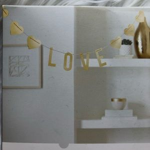 Threshold Gold Love Banner valentine's day heart
